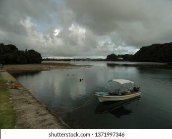 Echang, Palau - July 1, 2018. Boat at Echang dock.