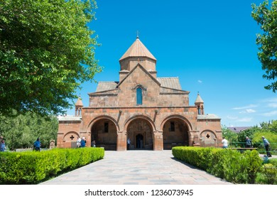 Echmiatsin, Armenia - Jun 03 2018- Saint Gayane Church in Echmiatsin, Armenia. It is part of the World Heritage Site- The Cathedral and Churches of Echmiatsin and the Archaeological Site of Zvartnots.