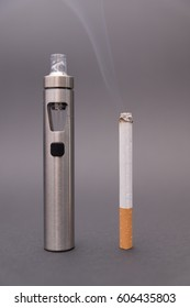 e-cigarette with normal cigarette