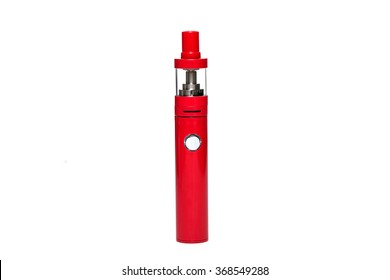 E-Cigarettes (Electronic cigarettes) with professional vaporizer isolated on white background