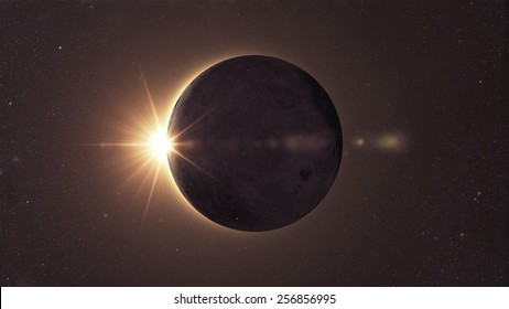 Eclipse of the sun, Solar eclipse Elements of this image furnished by NASA