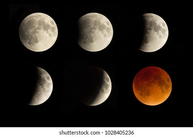 Eclipse of the super moon 2015