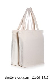 Eco bags on white background. Mock up for design