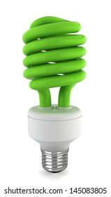 Eco bulb. 3d illustration on white background