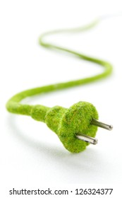 eco electric plug , energy concept