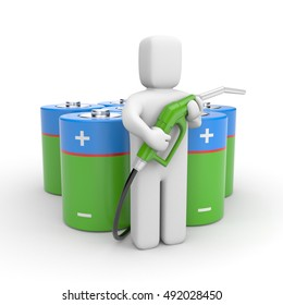 Eco energy. 3d illustration