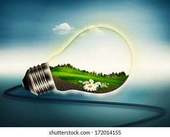 Eco Energy, abstract bower and eco backgrounds