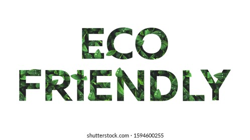 eco font from grass leaves on a white background isolated. Eco frendly fonts