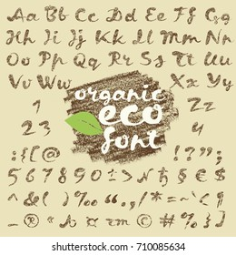 eco font in grunge style