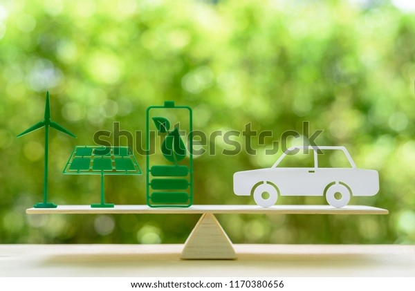 Eco Friendly Car Green Renewable Energy Stock Photo (Edit