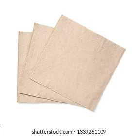 Eco friendly disposable paper napkin  isolated on a white background