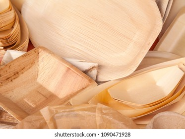 Eco friendly fast food containers, bamboo and palm tree origin