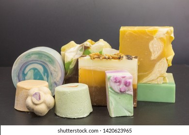 eco friendly solid shampoo bar and solid shower gel to avoid plastic packaging - zero waste concept