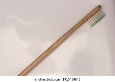 Eco friendly wooden toothbrush zero waste lifestyle