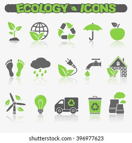 ECO icons with reflection