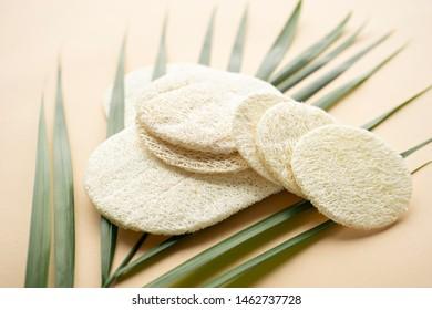 eco natural luffa sponges for face care. zero waste
