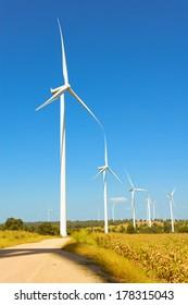 Eco power, wind turbines