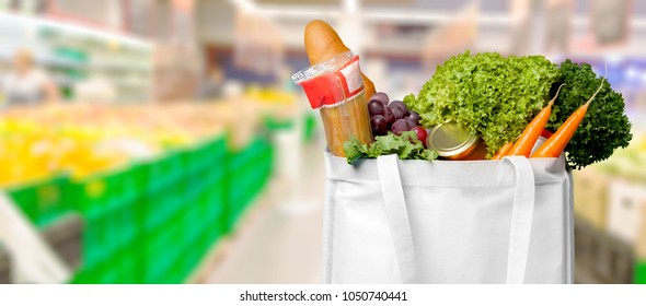 Eco shopping bag with product
