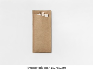 Eco take away paper cutlery set