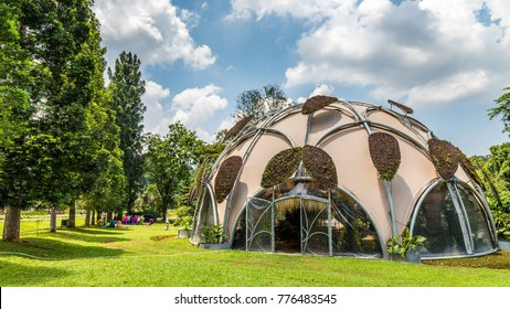 Ecodome in Botanical gardens Kebun Raya in Bogor, West Java, Indonesia. A present from the Dutch goverment.