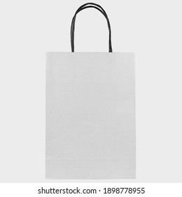 Eco-friendly white paper bag isolated