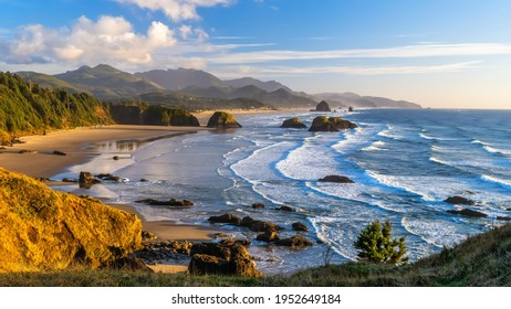 Ecola State Park is a state park located approximately 3 miles north of Cannon Beach in Clatsop County in the U.S. state of Oregon on the Oregon Coast.  - Shutterstock ID 1952649184