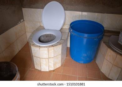 An ecological bathroom in Africa