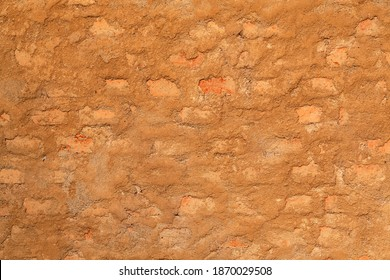 Ecological cob wall rural construction pattern texture for background