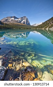 Ecologically Protected Lake O'hara in British Columbia
