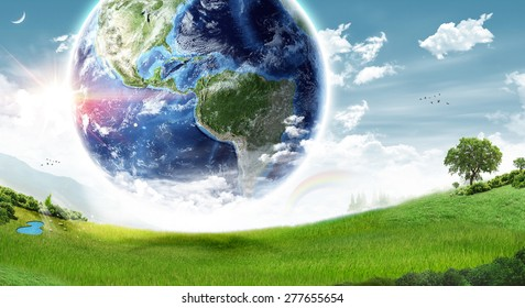 Ecology Earth concept - Elements of this image furnished by NASA