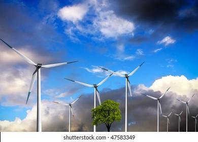 Ecology, Wind turbines