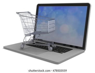 E-Commerce Concept - 3D