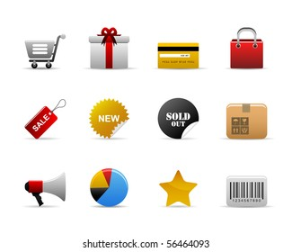 E-Commerce Icons Raster