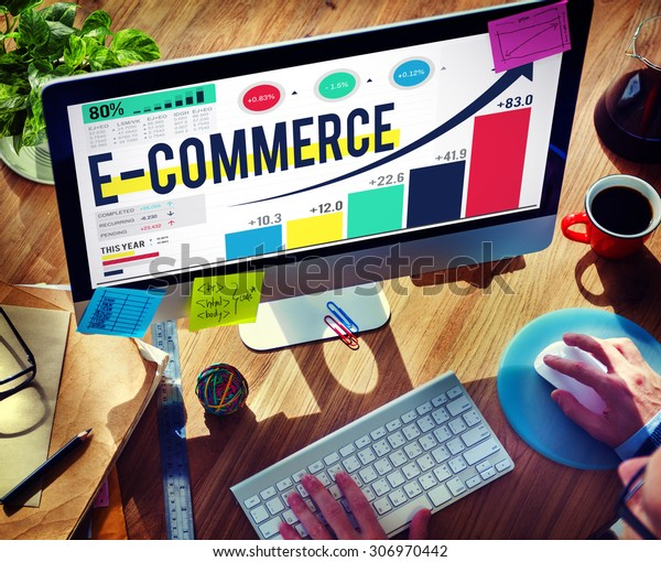 E-commerce Internet Global Marketing Purchasing Concept