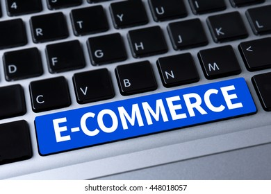 E-COMMERCE a message on keyboard