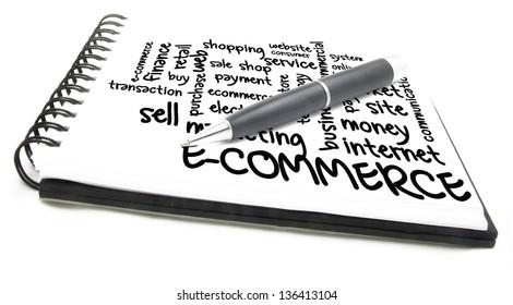 e-commerce word cloud  - notes