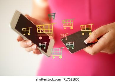 e-commerce-online shopping concept