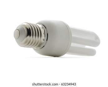 Economic Bulb (clipping path) on white