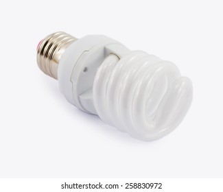 economic bulb isolated on a white background