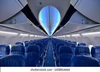 economic class inside the plane