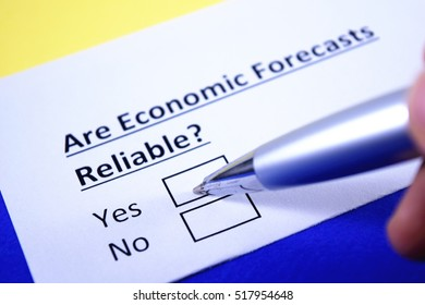 Are economic forecasts reliable? Yes