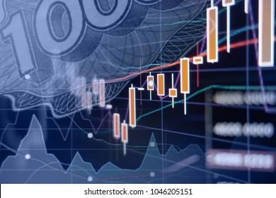 Economic growth - Stock market graphs and charts - Financial and business background