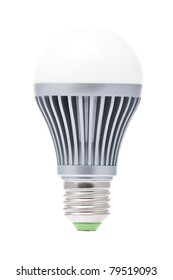 Economical LED lamp chambered E27 on a white background
