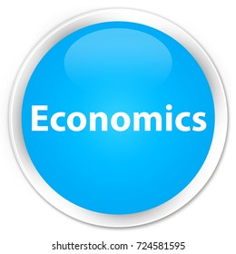 Economics isolated on premium cyan blue round button abstract illustration