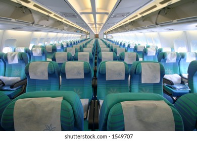 economy class seats in an airbus A340