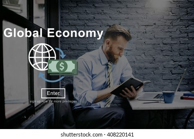 Economy Global Currency Financial Investment Concept