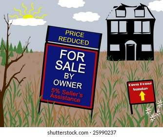 Economy going sour with homes that stay on the market forever.