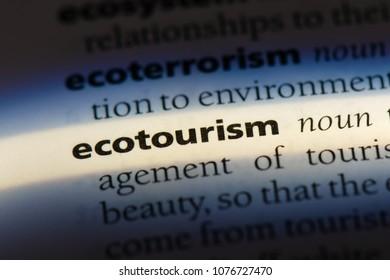 ecotourism ecotourism concept.