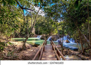 An eco-tourism trail in Bonito, a touristic destination in Brazil