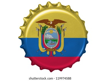Ecuador flag painted on stopper